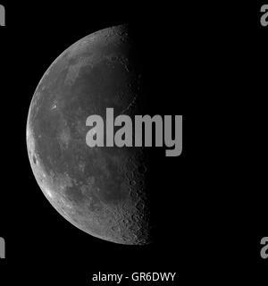 Waning moon - high resolution image - Stock Photo