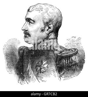 Aimable-Jean-Jacques Pélissier, 1st Duc de Malakoff (1794 –1864), was a Marshal of France.   In 1855 he succeeded - Stock Photo
