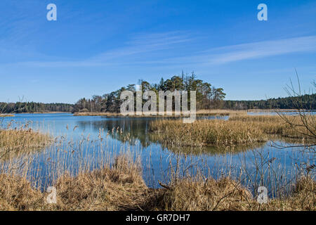 Island In The Great Ostersee In Iffeldorf - Stock Photo