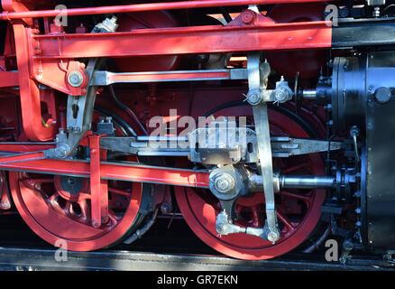 Steam Locomotive Wheels - Stock Photo