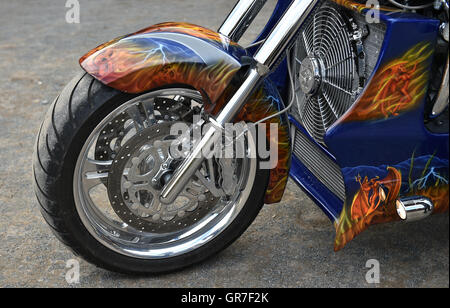 Motorcycle Front - Stock Photo