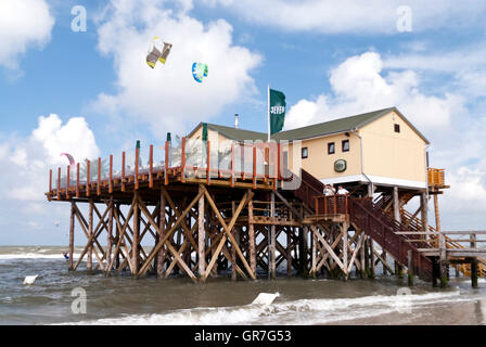 Beach Of St. Peter-Ording In Germany - Stock Photo