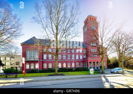 Town Hall In Bergedorf, Hamburg, Germany - Stock Photo