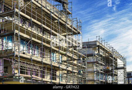 Government-Assisted Housing Construction In Hamburg, Germany - Stock Photo