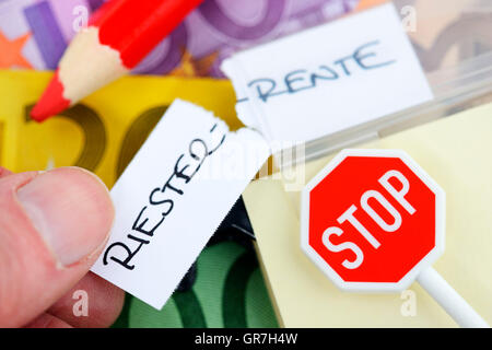 German Riester Pension - Stock Photo