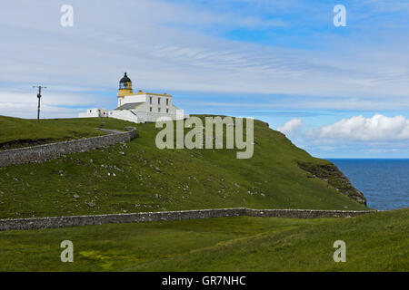 Stoer Head Lighthouse, Lochinver, Sutherland, Scotland, United Kingdom - Stock Photo