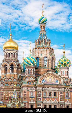 Church of the Savior on Spilled Blood, St Petersburg Russia - Stock Photo