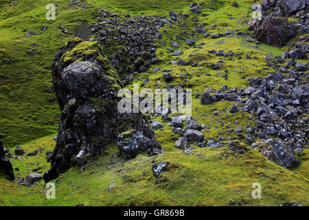 Scotland, the Inner Hebrides, Isle of Skye, Trotternish peninsula, scenery in the Storrmassiv - Stock Photo