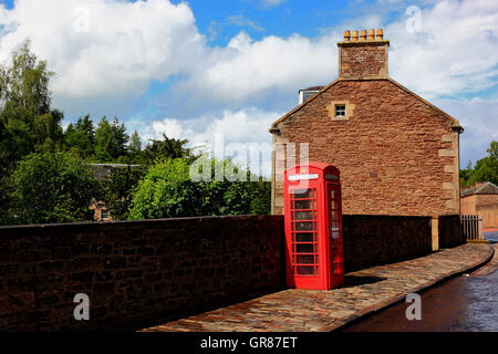 Scotland, New Lanark in Scotland, with Lanark in the county South Lanarkshire, former cotton manufacture centre - Stock Photo
