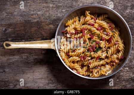 Noodles In A Pan - Stock Photo