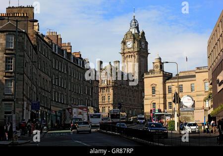 Scotland, Edinburgh, Balmoral hotel in the city centre, city centre - Stock Photo