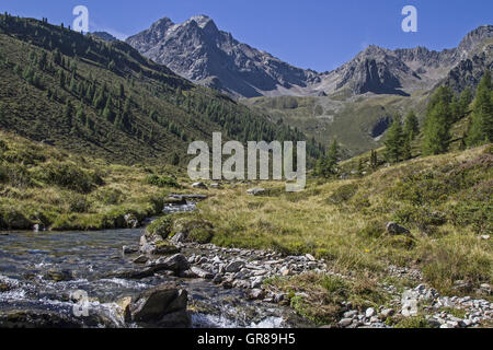 Mountain Stream In The Oetztal Alps - Stock Photo