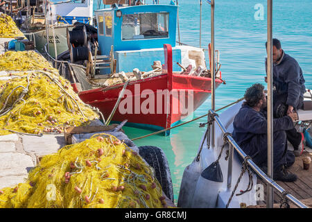 Fishing Boat In The harbour, Zakinthos, Greece - Stock Photo