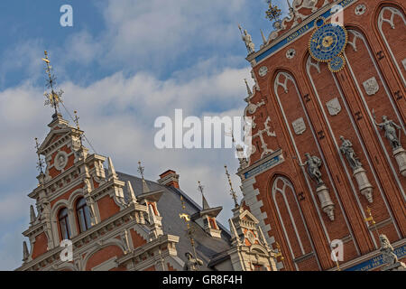 Blackheads House Situated On The Town Hall Square In Riga In Latvia - Stock Photo