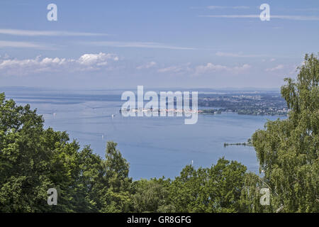View From Pfaender To Lake Bodensee - Stock Photo