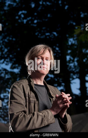 Michel Faber, the Dutch-born writer of English-language fiction, at the Edinburgh International Book Festival. Edinburgh, - Stock Photo