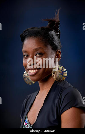 Irenosen Okojie, the British Nigerian writer, curator and Arts Project Manager, at the Edinburgh International Book - Stock Photo