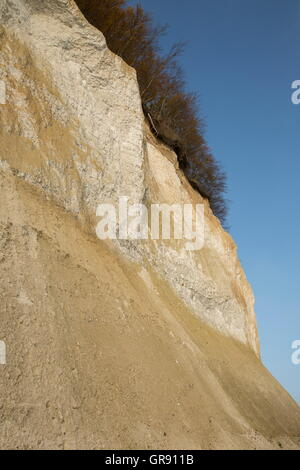 Chalk Cliffs Jasmund National Park, Ruegen Island, Mecklenburg-Vorpommern, Germany - Stock Photo