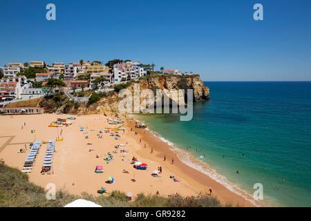 Bay Of Carvoeiro, Praia De Carvoeiro, Algarve, Portugal, Europe - Stock Photo
