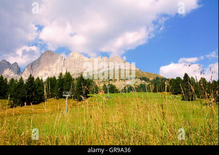 Sella Group In The Dolomites With Piz Boe - Stock Photo