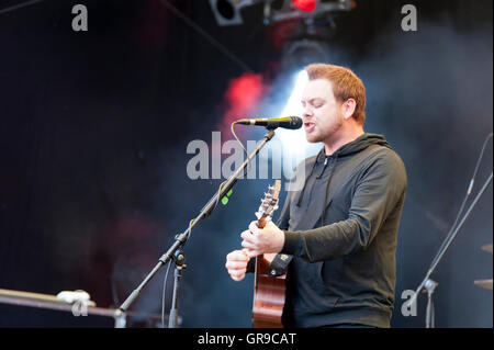 Kiel, Germany, June 17, 2016 South African Rock Band Prime Circle Live On The Kiel Week 2016 - Stock Photo