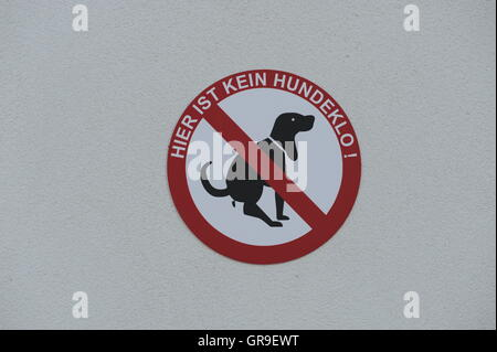 Sign, Here Is Not A Dog Toilet - Stock Photo
