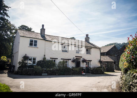Yew Tree Farm, Rosthwaite, Borrowdale , Lake District, Cumbria United Kingdom - Stock Photo