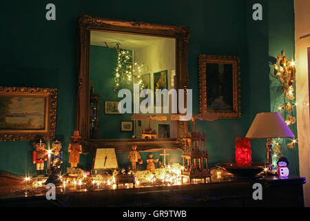 Christmas Decoration In A Living Room - Stock Photo