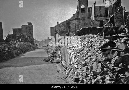 Destruction In World War Ii In 1940 In Belgium - Stock Photo