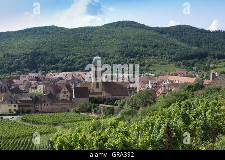 Picturesque Old Town Of Kaysersberg, Haut-Rhin, Alsace, France, Europa - Stock Photo