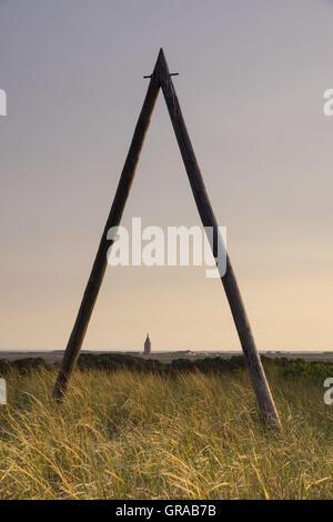 West Tower, Wangerooge, East Frisian Island, East Frisia, Lower Saxony, Germany, Europe - Stock Photo