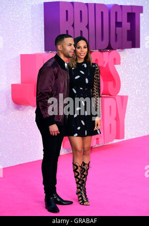 Rochelle and Marvin Humes attending the world premiere of Bridget Jones's Baby at the Odeon cinema, Leicester Square, - Stock Photo