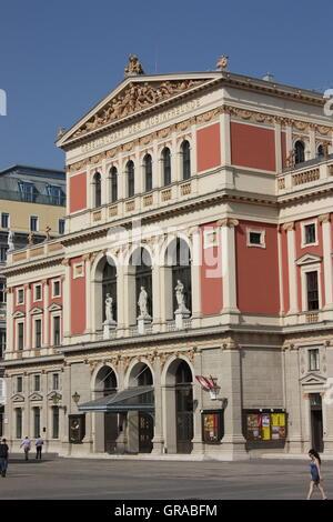 Gesellschaft der Musikfreunde in Wien, Austria - Stock Photo