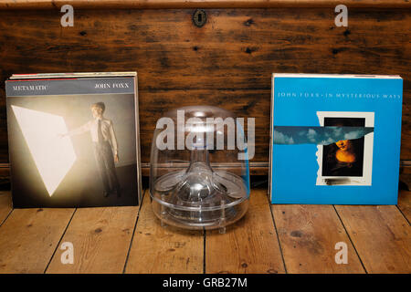 John Foxx Metamatic LP and In Mysterious Ways 12' single records - Stock Photo