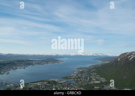 City north of artic circle - Stock Photo