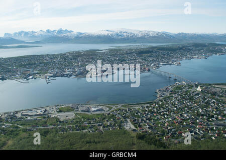 City north of artic circle - Stock Photo
