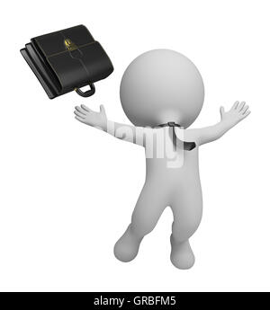 3d small people - successful businessman - Stock Photo