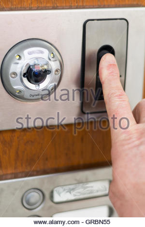 ... Security System At The Front Door With Fingerprint Scanner And Camera    Stock Photo