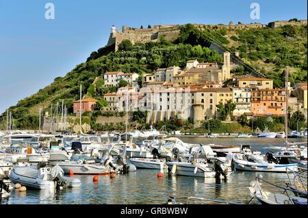 Porto Ercole, Coastal Town Of Maremma, Tuscany, Italy - Stock Photo