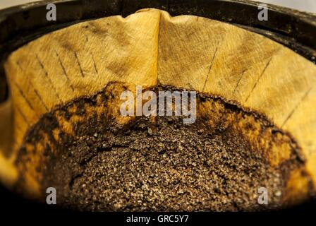 Filter Bag, Coffee, Used - Stock Photo