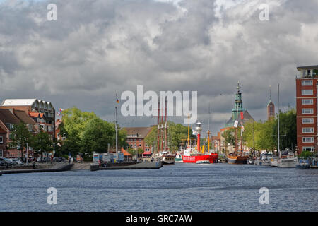 Age Inland Port In Emden - Stock Photo