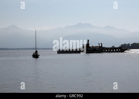 View At The Chiemsee - Stock Photo