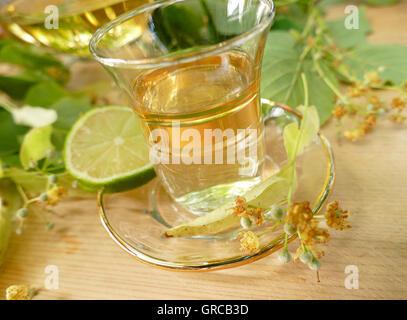 Lime Blossom Tea - Stock Photo