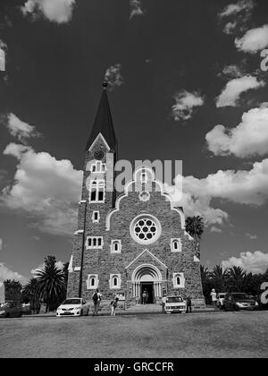 Christ Church In Windhoek, Namibia, Built In 1907 For Evangelical-Lutheran Congregation - Stock Photo