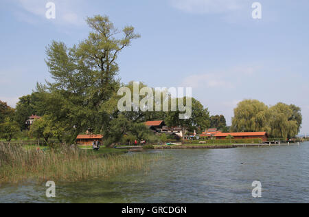 Island Frauenchiemsee In Chiemsee Lake - Stock Photo