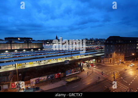 Arnulf Street With Tunnel And Munich Central Railway Station - Stock Photo