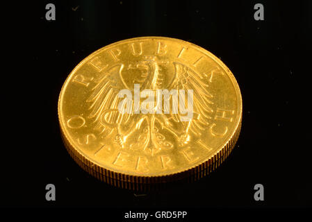 Ancient Austrian Gold Coin - Stock Photo