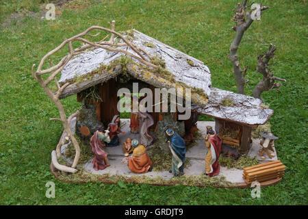 Christmas Crib, Nativity Scene - Stock Photo