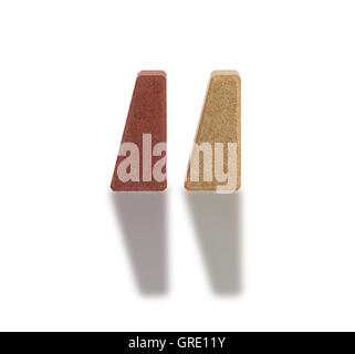 Special stone pawns with reflection - Stock Photo