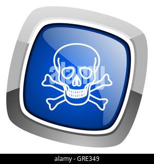 skull icon - Stock Photo